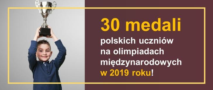 Osiągnięcia polskich uczniów w międzynarodowych olimpiadach w 2019