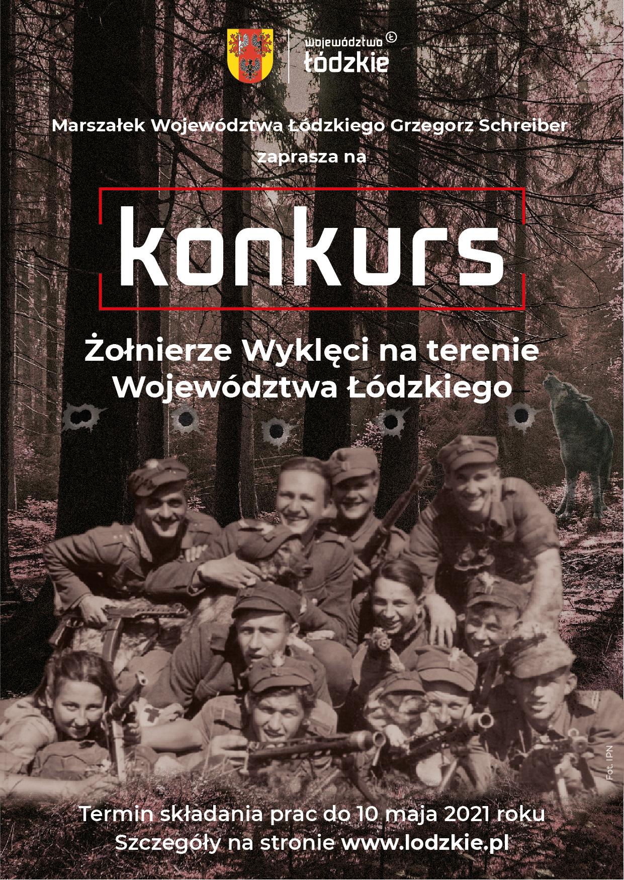 Konkurs historyczny dla uczniów szkół podstawowych<br> i ponadpodstawowych upamiętniający Żołnierzy Wyklętych.